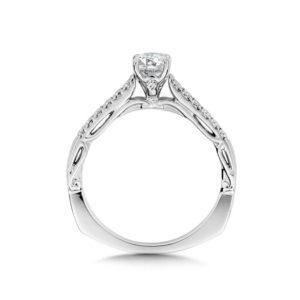 14K White Gold 0.15ct Diamond Engagement Ring