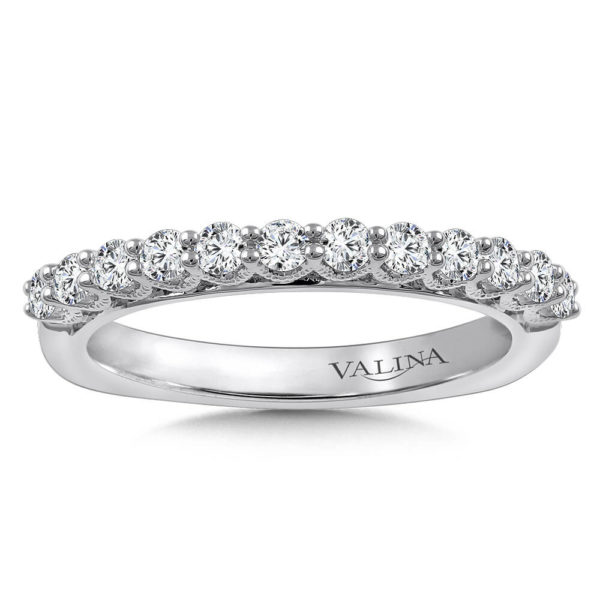 14K White Gold 0.47ct Diamond Wedding Band
