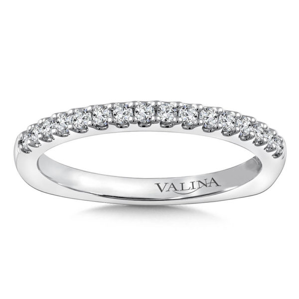 14K White Gold 0.22ct Diamond Wedding Band
