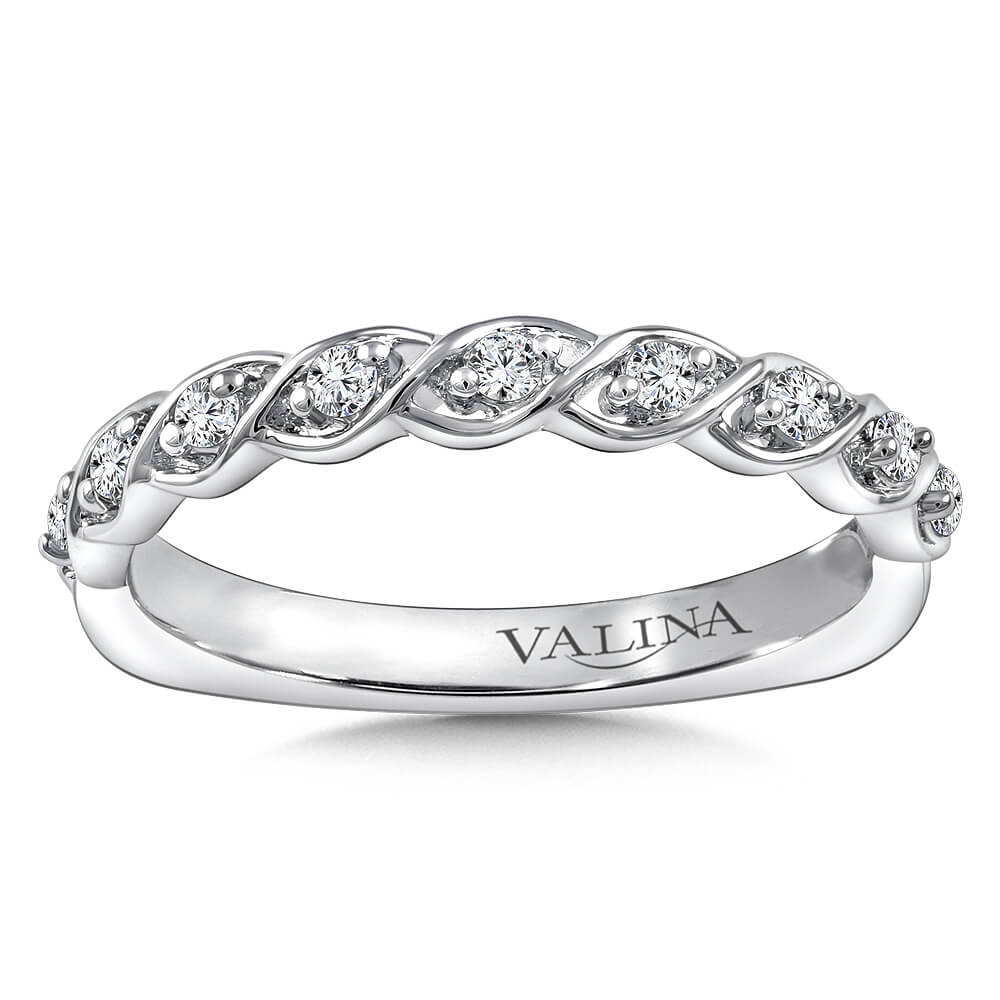 Stackable Wedding Bands.14k White Gold 0 15ct Diamond Stackable Wedding Band