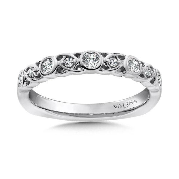 14K White Gold 0.24ct Diamond Wedding Band
