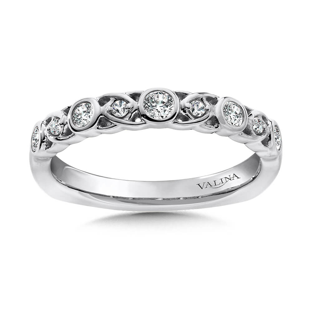 Stackable Wedding Bands.14k White Gold 0 24ct Diamond Stackable Wedding Band