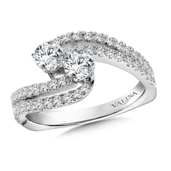 14K White Gold 0.95ct Diamond Engagement Ring