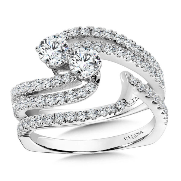 14K White Gold 1.17ct Diamond Bridal Set