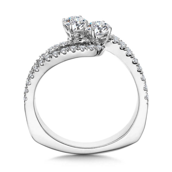 14K White Gold 0.95ct Diamond Engagement Ring