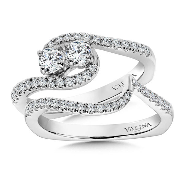 14K White Gold 0.60ct Diamond Bridal Set