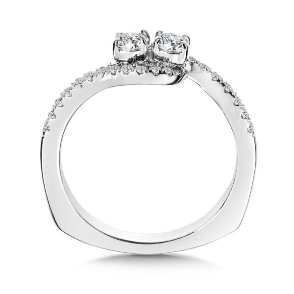 14K White Gold 0.46ct Diamond Engagement Ring