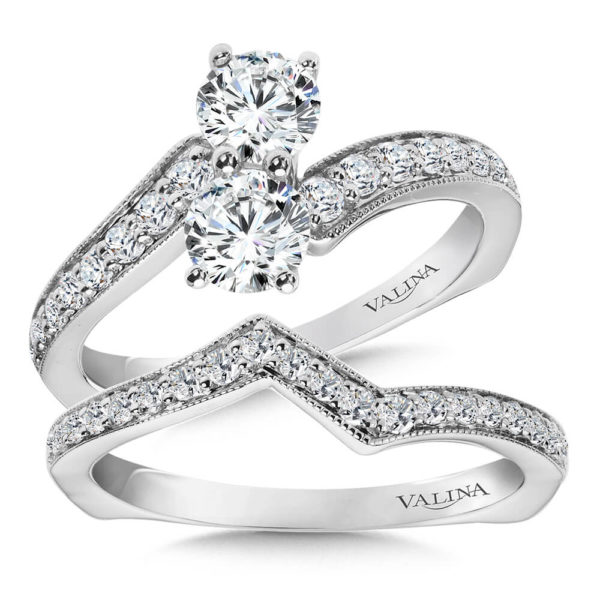 14K White Gold 1.16ct Diamond Bridal Set