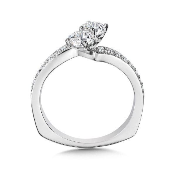14K White Gold 0.97ct Diamond Engagement Ring