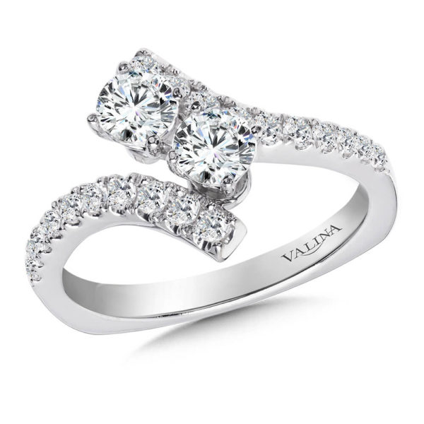 14K White Gold 0.96ct Diamond Engagement Ring