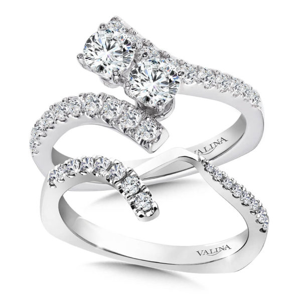 14K White Gold 1.15ct Diamond Bridal Set