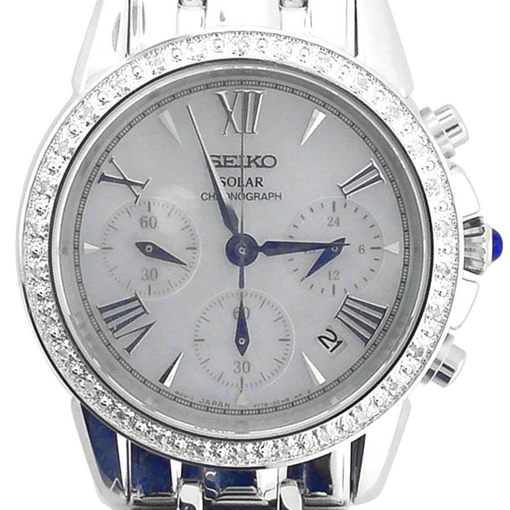 women s seiko solar powered chronograph more than