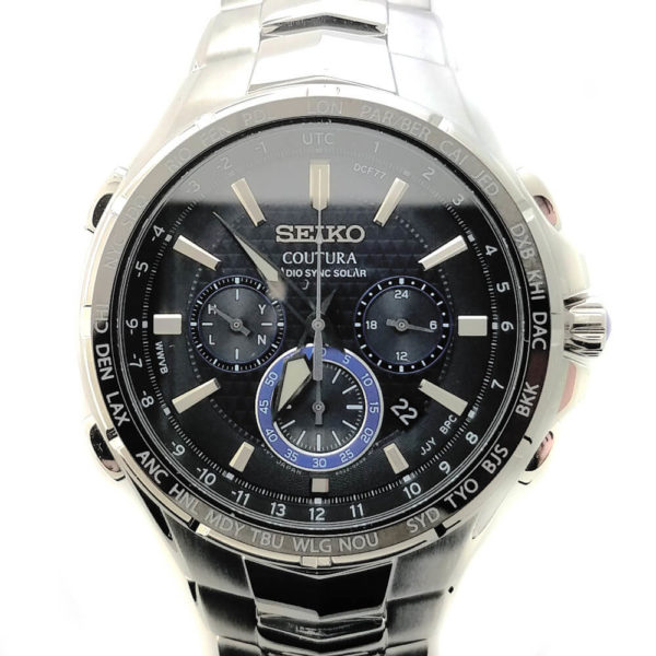 Seiko Coutura Solar Dark Face Watch