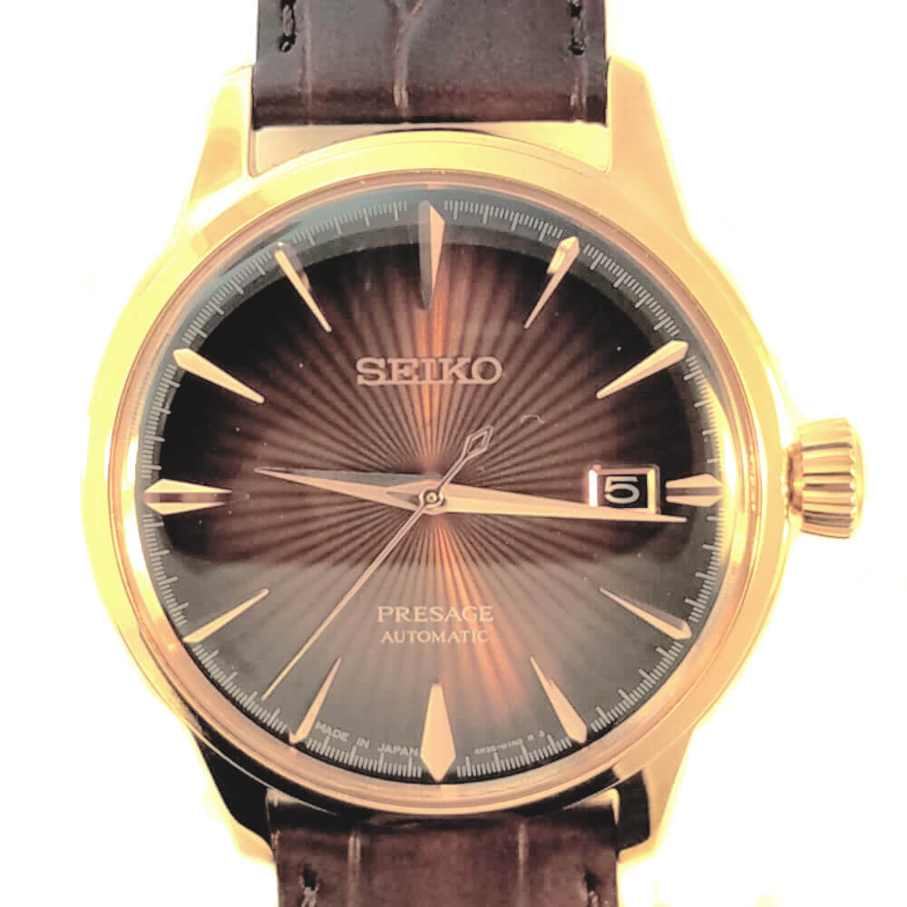 Seiko Presage Watch - Bronze Tone
