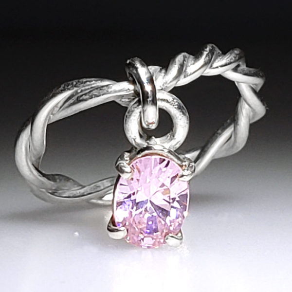 Sterling Silver Dangle Ring